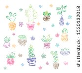 plant icon set  vector and... | Shutterstock .eps vector #1520132018