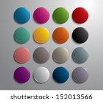 set of glossy plastic colorful... | Shutterstock .eps vector #152013566