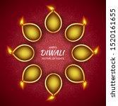 happy diwali hindu festival of... | Shutterstock .eps vector #1520161655