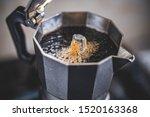 Making Black Moka Coffee Using...