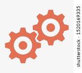 gear icon. settings icon. gear... | Shutterstock .eps vector #1520169335