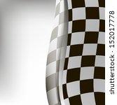 checkered sport racing flag... | Shutterstock . vector #152017778