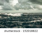 huge wave crashing down at... | Shutterstock . vector #152018822