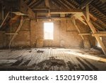 Old Rustic Attic With Sunlight...