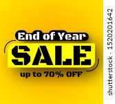 end of year sale banner. vector ... | Shutterstock .eps vector #1520201642