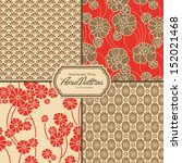 set of asia inspired floral... | Shutterstock .eps vector #152021468