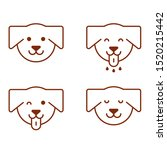 dog emotions happy  cheerful ... | Shutterstock .eps vector #1520215442