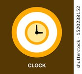 clock time symbol icon   vector ... | Shutterstock .eps vector #1520238152