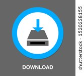 vector download icon   file... | Shutterstock .eps vector #1520238155