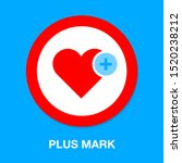 heart icon with add sign ... | Shutterstock .eps vector #1520238212