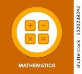 vector calculator symbol  ... | Shutterstock .eps vector #1520238242