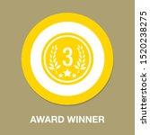 award winner   third place... | Shutterstock .eps vector #1520238275