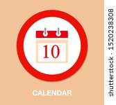 vector calendar day icon  day... | Shutterstock .eps vector #1520238308