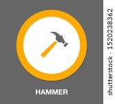vector hammer symbol  repair... | Shutterstock .eps vector #1520238362