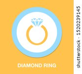 vector diamond ring   wedding...   Shutterstock .eps vector #1520239145