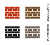 wall icon set in trendy. wall...
