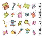 set of vector objects of food... | Shutterstock .eps vector #1520268305