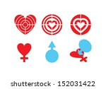 vector symbol of love heart and ...