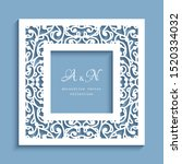 square frame with cutout paper... | Shutterstock .eps vector #1520334032