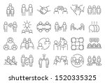 business cooperation icons set. ... | Shutterstock .eps vector #1520335325
