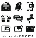 notification message icons set. ...