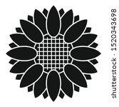 botany sunflower icon. simple... | Shutterstock .eps vector #1520343698