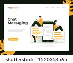 chat messaging vector concept...