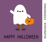 happy halloween. child kid... | Shutterstock .eps vector #1520363462