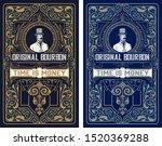 western label for whiskey or... | Shutterstock .eps vector #1520369288