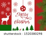 merry christmas and happy new... | Shutterstock .eps vector #1520380298