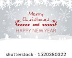merry christmas and happy new... | Shutterstock .eps vector #1520380322
