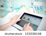 touchpad in the hospital. the... | Shutterstock . vector #152038148