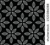 black and white seamless...   Shutterstock .eps vector #1520386088