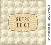 vintage design template | Shutterstock .eps vector #152039075