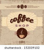 hand drawn vintage coffee labels | Shutterstock .eps vector #152039102