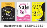 set discount banners promotion...   Shutterstock .eps vector #1520413352