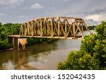 Rusty Old Railroad Bridge Spans ...