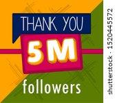 5m followers banner. thank... | Shutterstock .eps vector #1520445572