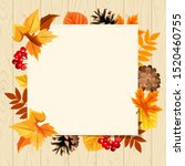 vector paper card with colorful ... | Shutterstock .eps vector #1520460755