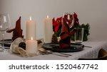 Christmas Table Setting For Tw...