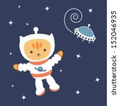 astronaut cat in space | Shutterstock . vector #152046935