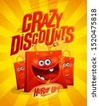 crazy discounts sale vector... | Shutterstock .eps vector #1520475818