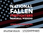national fallen firefighters... | Shutterstock .eps vector #1520499485