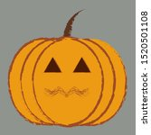 halloween pumpkin vector icon ... | Shutterstock .eps vector #1520501108