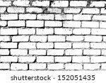 brick wall overlay texture  ...   Shutterstock .eps vector #152051435
