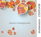 autumn background with stylized ... | Shutterstock .eps vector #152051438