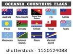 oceania countries flag... | Shutterstock .eps vector #1520524088