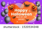 creative happy halloween sale... | Shutterstock .eps vector #1520534348