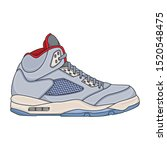 basketball shoes mens simple ... | Shutterstock .eps vector #1520548475