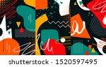 creative doodle art header with ... | Shutterstock .eps vector #1520597495